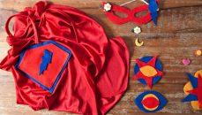 Capa e assessórios de super-herói